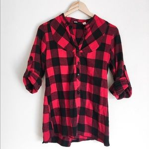 Urban Outfitters button up buffalo check flannel